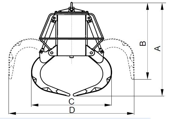 Размеры грейфера РЕА