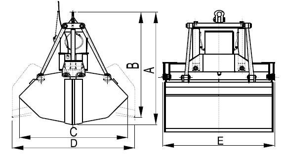 Схема электрогидравлического грейфера СV2