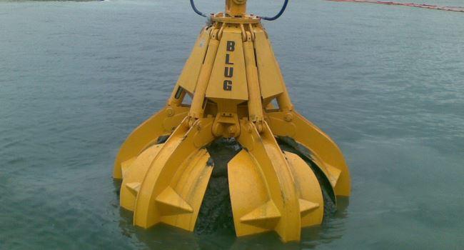 Электрогидравлические грейферы для подводных работ