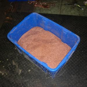 Готовая продукция медная сечка высокой степени очистки